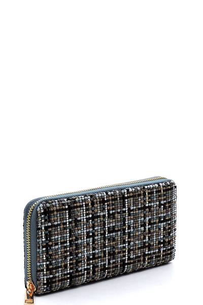 Fashion Woven Check Wallet