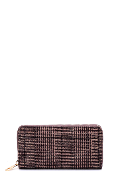 Houndstooth Check Printed Wallet