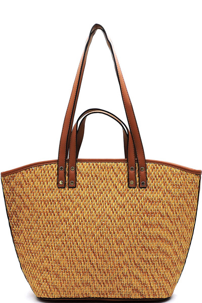 Fashion Straw Convertible Shopper