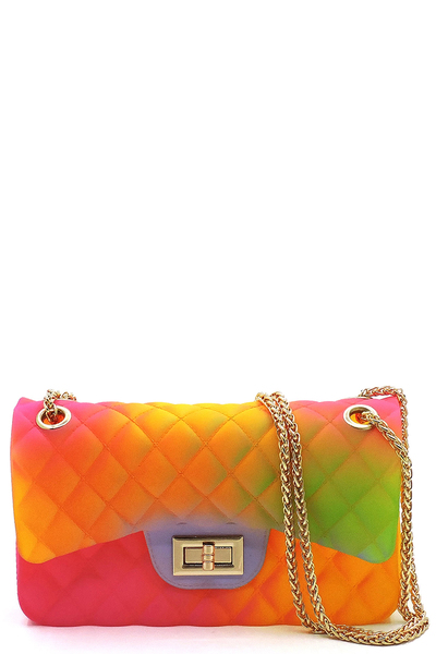 Quilt Embossed Jelly Classic Shoulder Bag