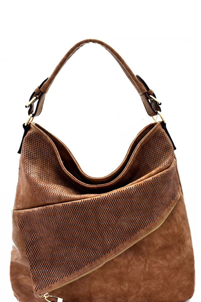 Asymmetrical Pocket Layer Perforated Hobo