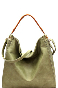 Perforated Side Woven Strap 2-Way Hobo