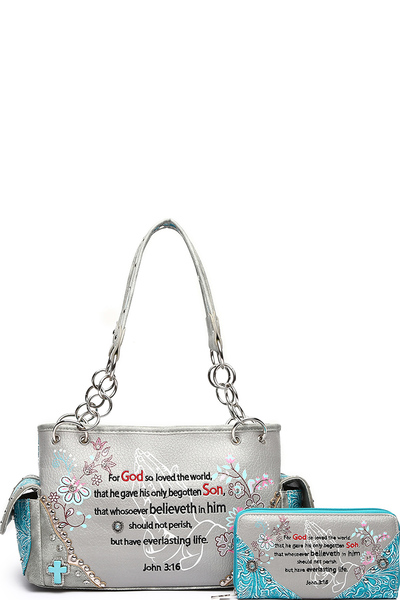 Bible Verse 2-in-1 Shoulder Bag