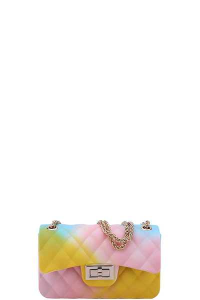 CUTE STYLISH RAINBOW TENDER JELLY CROSSBODY BAG