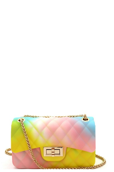 Quilted Matte Jelly Small 2 Way Shoulder Bag