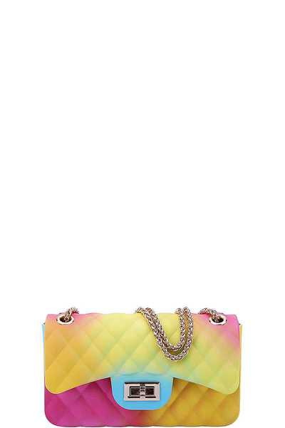 CUTE MODERN TENDER RAINBOW JELLY CROSSBODY BAG
