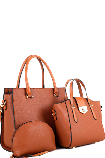 Classy 3 in 1 Structured Satchel Value SET