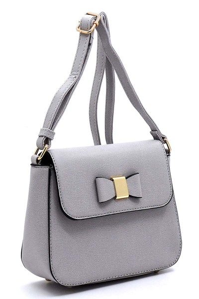 Fashion Bow Flap Crossbody Bag
