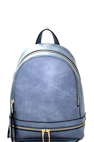 Zipper Accent Fashion Backpack