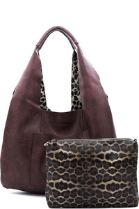 Fashion Leopard 2-in-1 Shoulder Bag Hobo