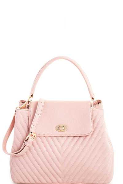 Modern Cute Stitched Satchel With Long Strap