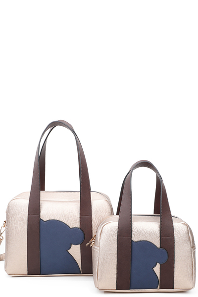 Big Handbags Attached with small top handle bags