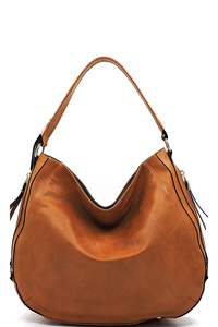 Fashion Zipper Hobo Concealed Carry Handbag