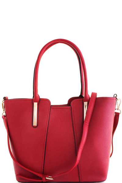 2in1 Fashion Stylish Satchel with Long Strap
