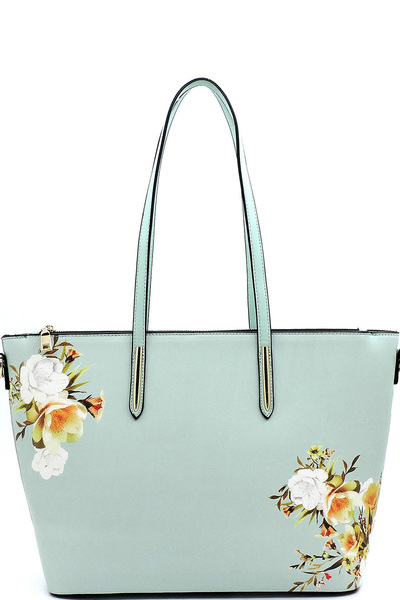 Flower Printed Shopper