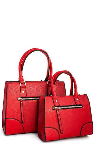2IN1 FASHION STYLISH TOTE SET WITH TWO STRAPS