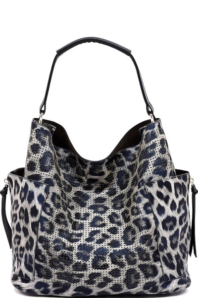 Perforated Leopard 2-in-1 Shoulder Bag
