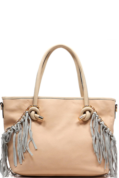 Fringe Top handle Shopper