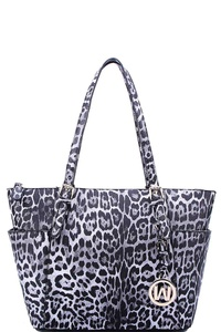 HOT TRENDY LEOPARD TEXTURED SHOPPER BAG