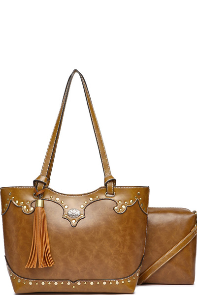 Western Flower Concho 2-in-1 Tote