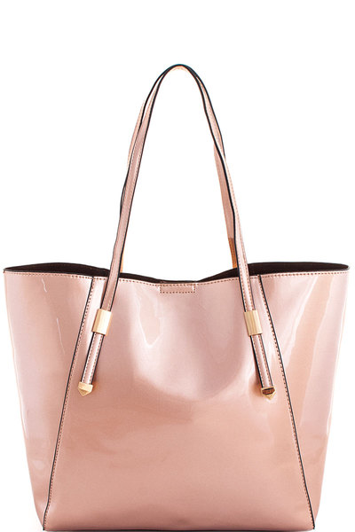 3in1 Glossy Modern Shopper with Long Strap