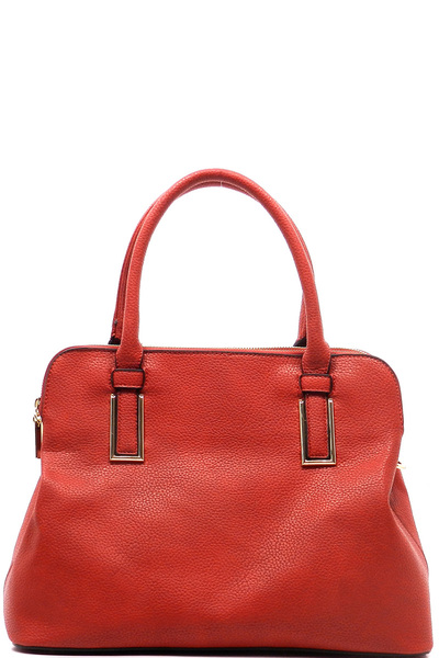 Pebble Textured Top Handle Satchel