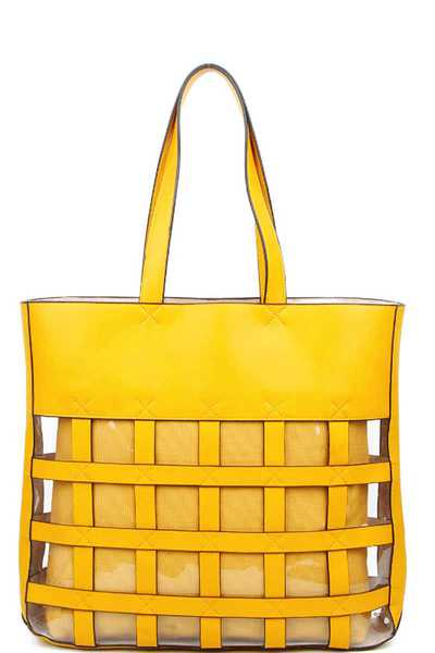 DESIGNER CHIC MODERN TOTE BAG WITH LONG STRAP