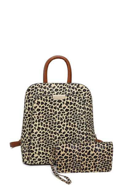 2IN1 STYLISH LEOPARD MODERN BACKPACK WALLET