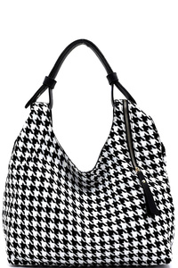 JQD Houndstooth 3-in-1 Shoulder Bag