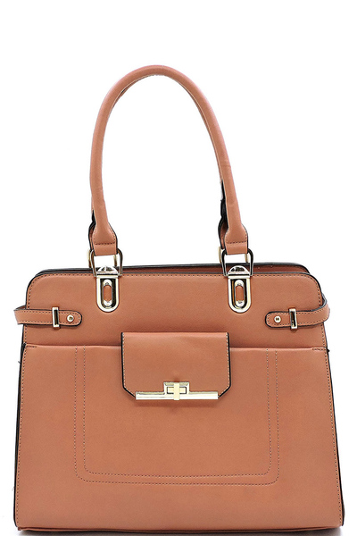 Fashion Top Handle Boxy Satchel