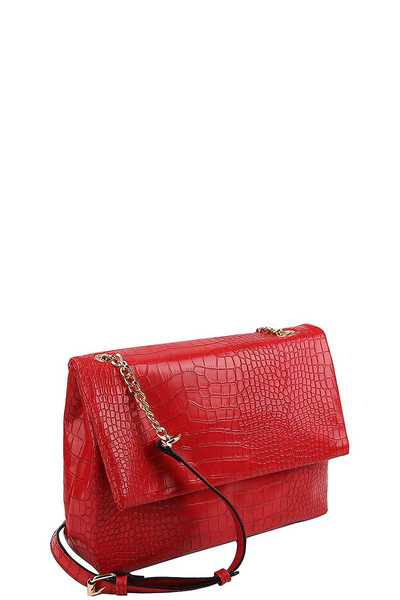 CUTE FASHION CROCO PATTERN CROSSBODY SHOULDER BAG
