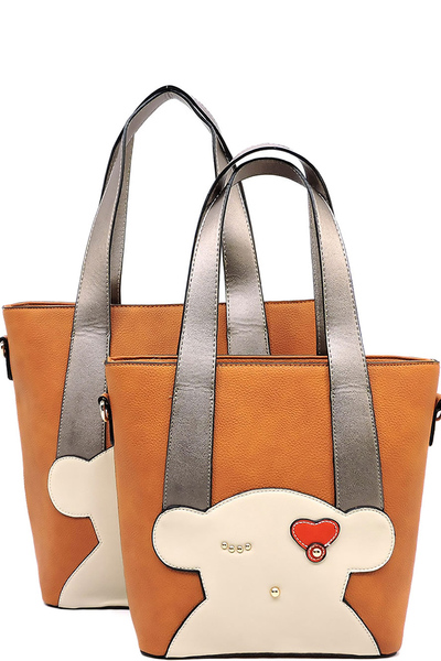 Fashion Bear 2-in-1 Tote Bag