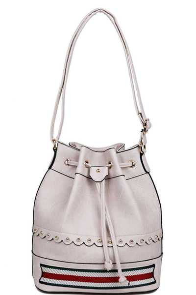 DESIGNER FASHION BUCKET SHOULDER BAG