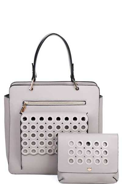 2IN1 RING STUDDED TOTE BAG WITH WAISTBAG SET