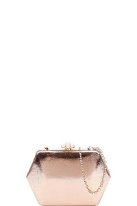 DESIGNER STRUCTURES EVENING PARTY CLUTCH WITH CHAIN