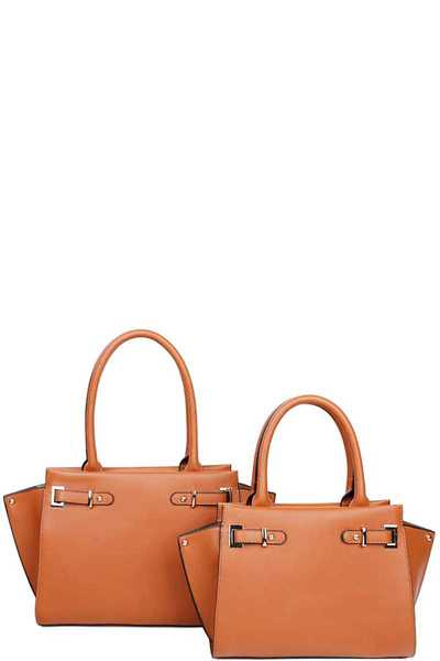 2IN1 STYLISH MODERN SATCHEL SET WITH LONG STRAP