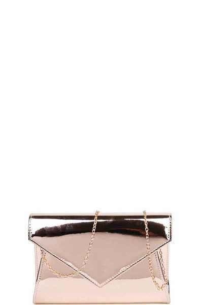 FASHION CHIC GLOSSY CROSSBODY CLUTCH