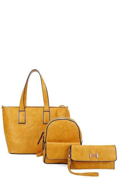 SHOPPER BACKPACK AND CLUTCH SET