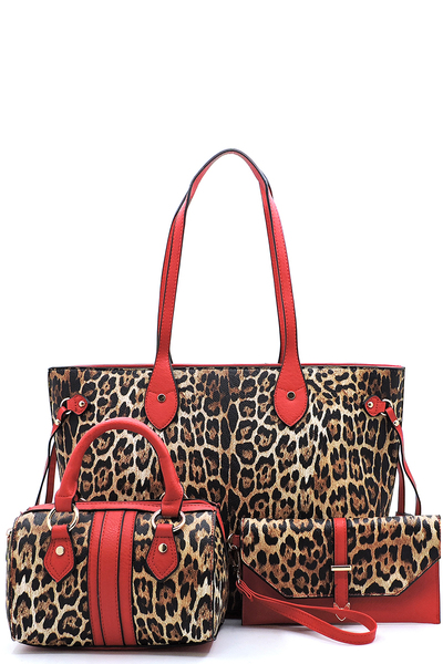 Leopard 3-in-1 Shopper Set