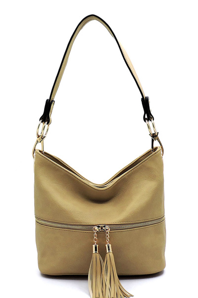 Fashion Tassel Zipper Bucket Bag