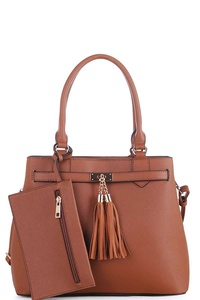 3IN1 STYLISH CUTE SATCHEL SET WITH LONG STRAP