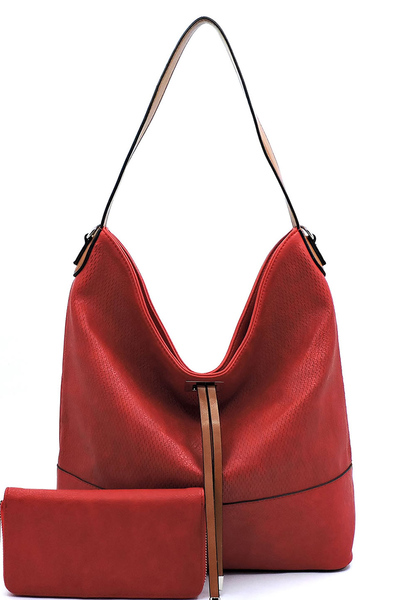 Fashion Laser Cut 2-in-1 Shoulder Bag Hobo