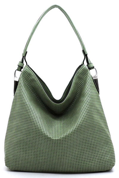 Laser Cut Printed Shoulder Bag Hobo