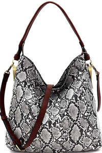 Animal Print 2-Way Slouch Hobo