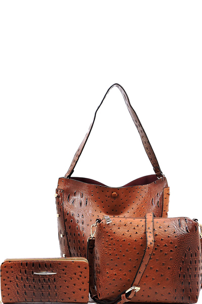 Ostrich 3-in-1 Bucket Bag