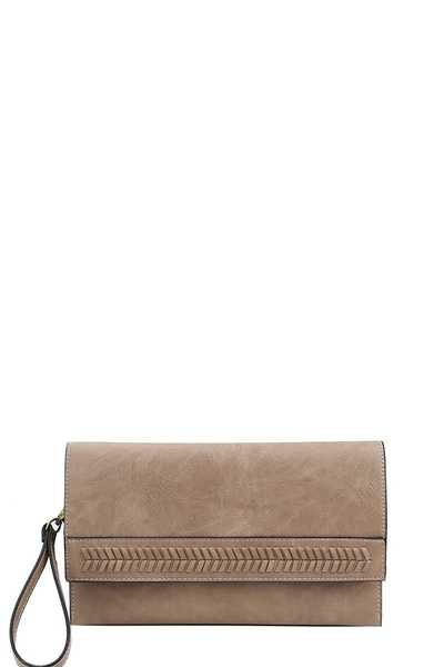 DESIGNER CHIC FASHION CLUTCH WITH TWO STRAPS