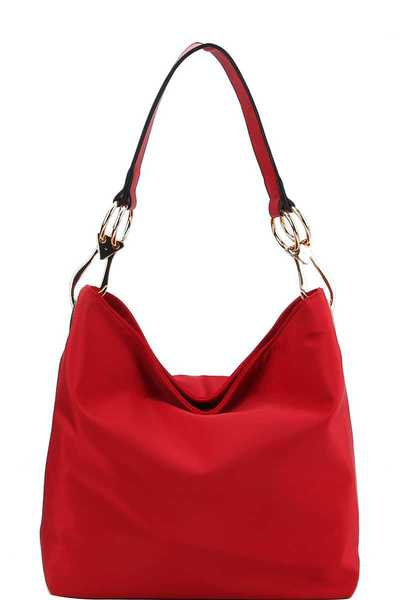 CHIC FASHION DURABLE CANVAS FABRIC HOBO BAG