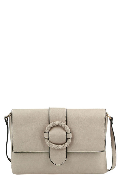 Fashion Buckle Flap Crossbody Bag