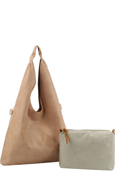 Fashion Triangular 2 in 1 Hobo Bag
