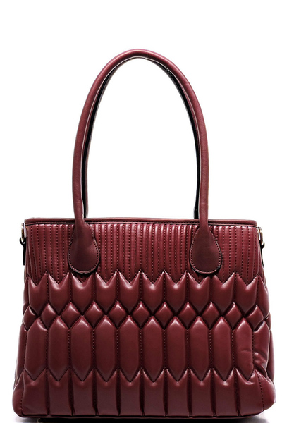 Plush Quilted Satchel